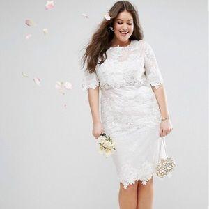 Midi Lace Wedding Dress